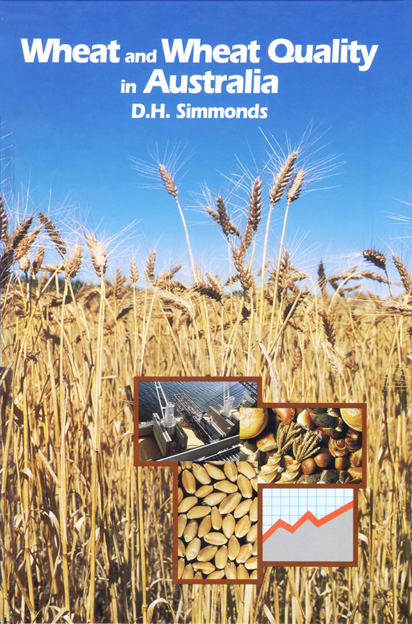The cover image of Wheat and Wheat Quality in Australia, featuring tall go
