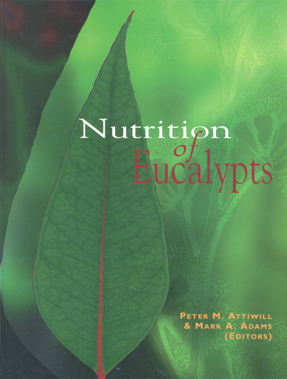 The cover image of Nutrition of Eucalypts, featuring a close up of a green