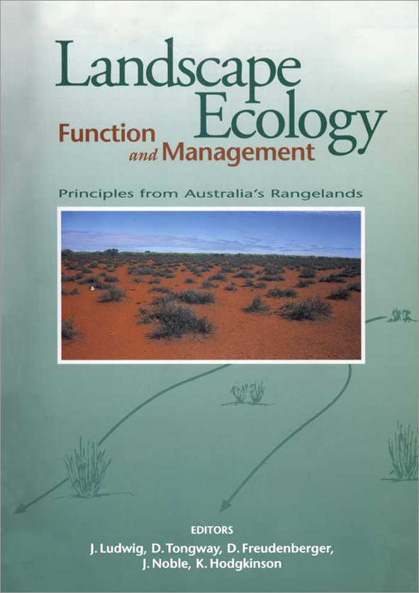 The cover image featuring a panoramic view of flat red land, with small sp