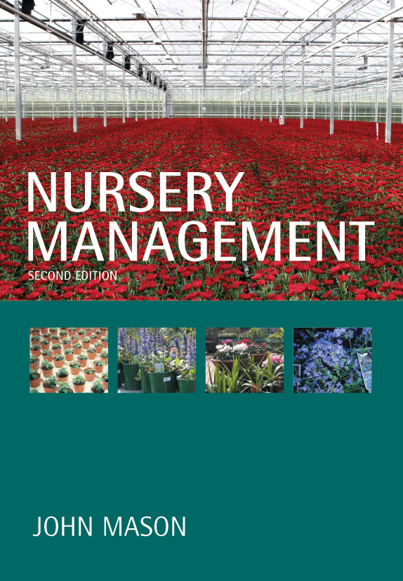 The cover image of Nursery Management, featuring an indoor nursery with ro