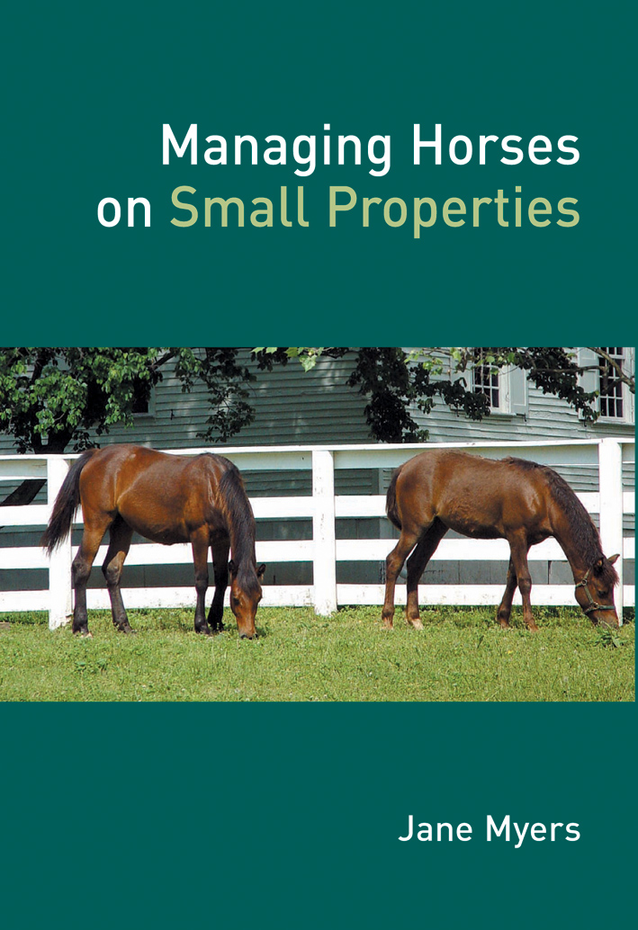 The cover image featuring two brown horses grazing on green grass, with a