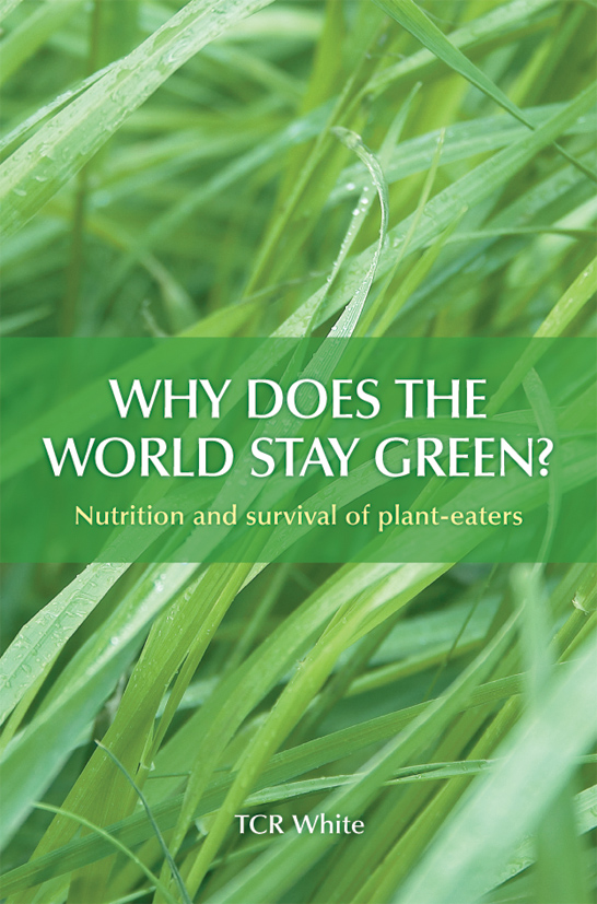 The cover image of Why Does the World Stay Green?, featuring long green gr