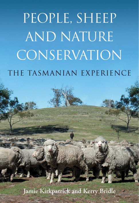 The cover image of People, Sheep and Nature Conservation, featuring a floc