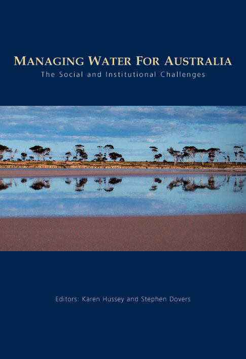 The cover image of Managing Water for Australia, featuring a panoramic vie