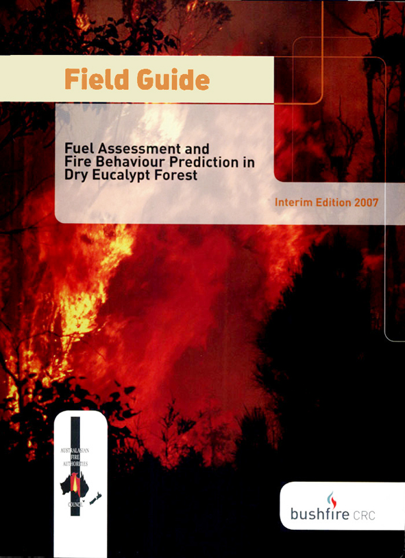 The cover image of Field Guide: Fire in Dry Eucalypt Forest, featuring the