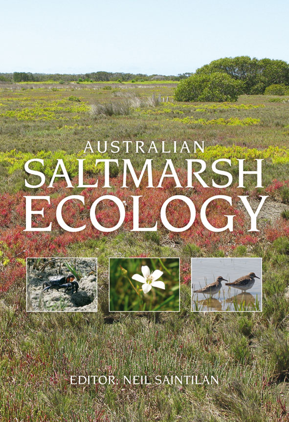Cover image featuring a view of a salt marsh with bushes of different colo