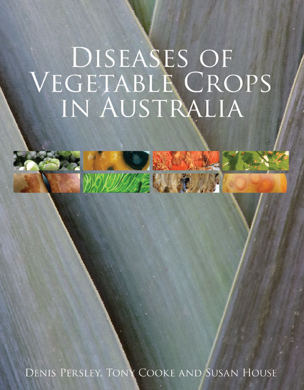 The cover image of Diseases of Vegetable Crops in Australia, featuring eig