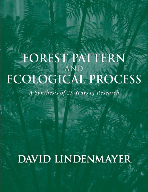 The cover image of Forest Pattern and Ecological Process, featuring fern f