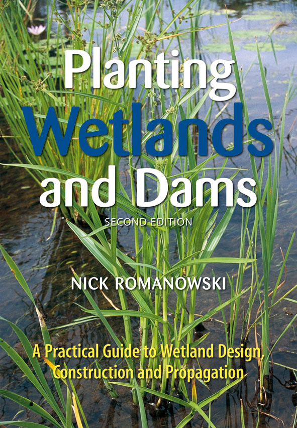 The cover image of Planting Wetlands and Dams, featuring a close downward