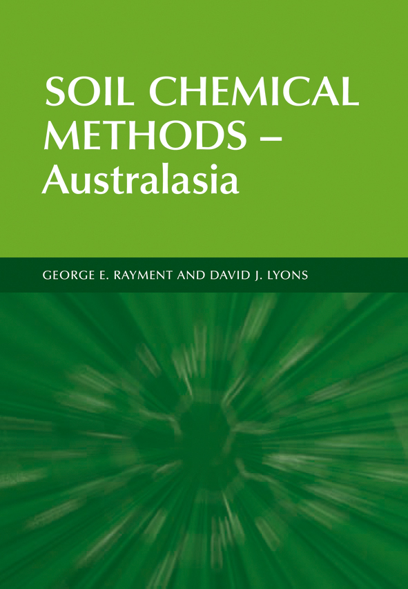 The cover image of Soil Chemical Methods - Australasia, featuring a tunnel