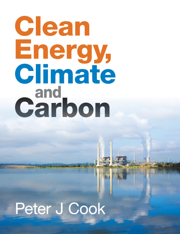 The cover image of Clean Energy, Climate and Carbon, featuring a working p