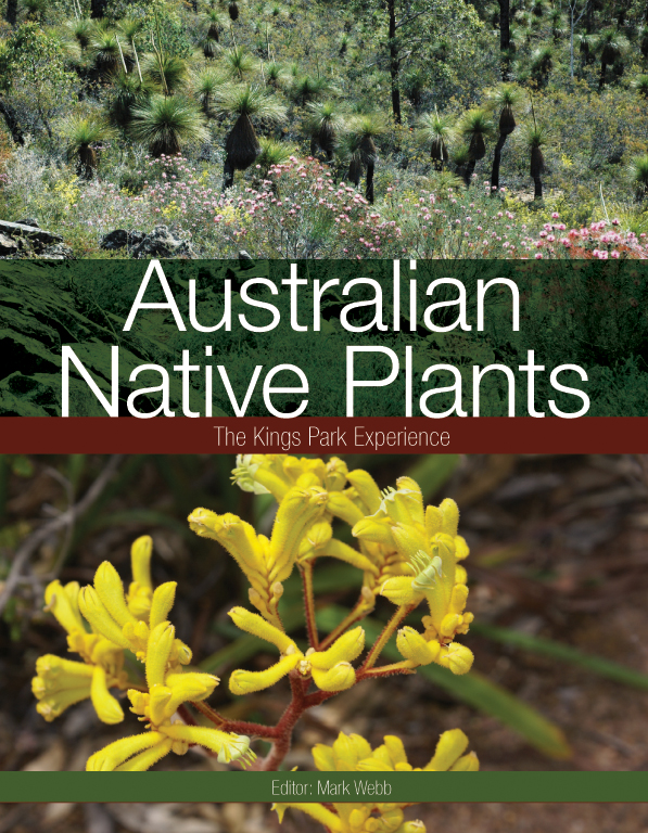 The cover image of Australian Native Plants, featuring a view of native au