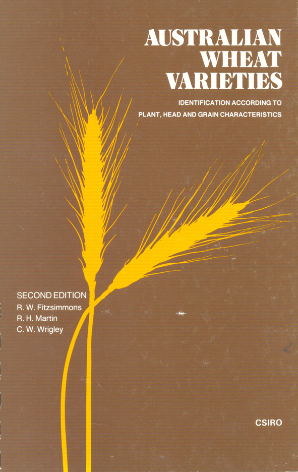 The cover image of Australian Wheat Varieties, features the outline of two