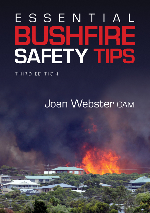 The cover image of Essential Bushfire Safety Tips, featuring a large bushf