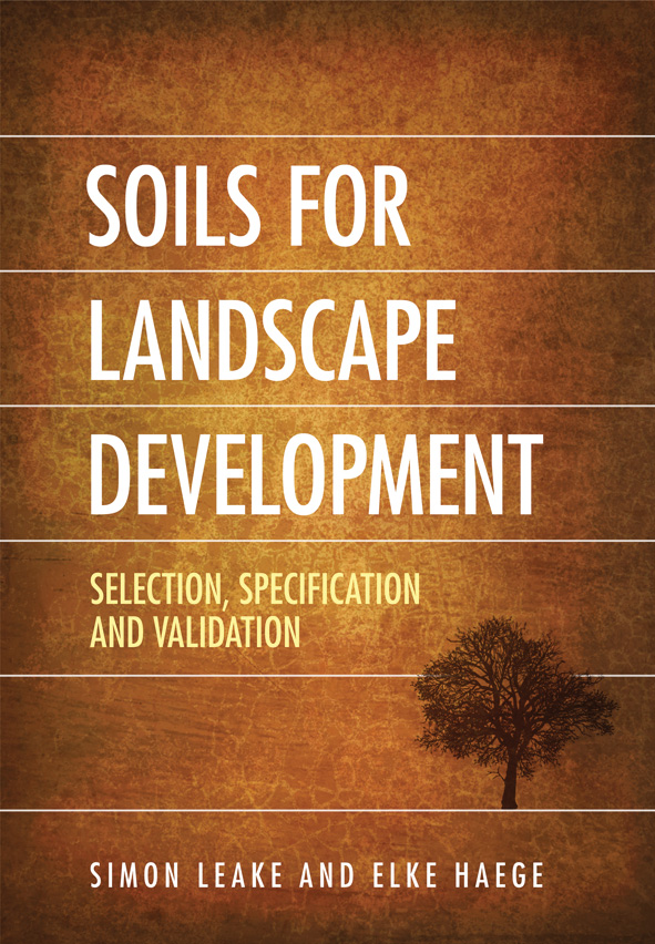 The cover image of Soils for Landscape Development, featuring a bright gol