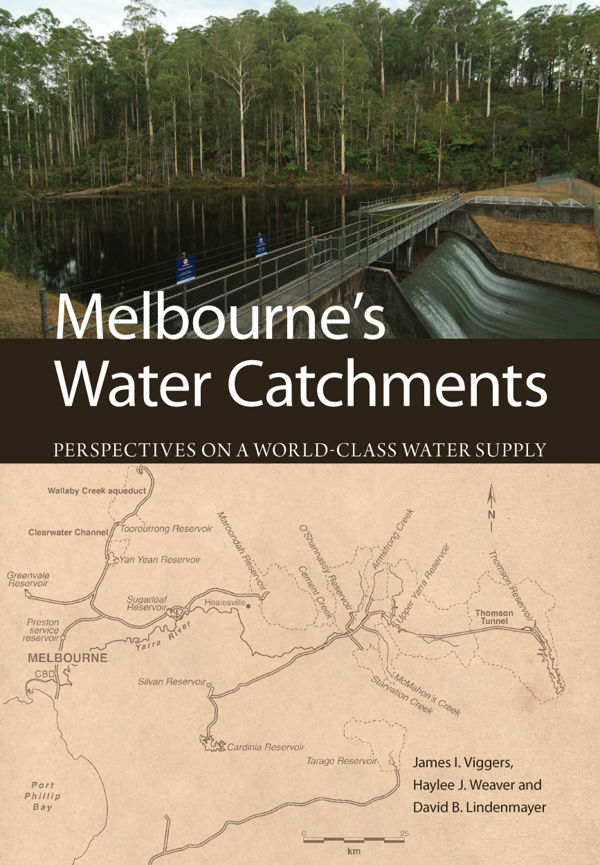 Cover image featuring two images, the top of a water catchment with tall g