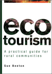 The cover image of Ecotourism, featuring a plain white cover, with the wor