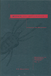 The cover image of Mites of Australia, featuring a plain grey cover, with