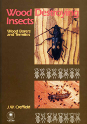 The cover image featuring two images of insects on wood, and two rows of n