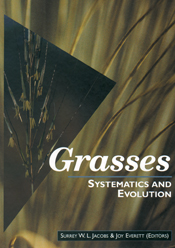 The cover image featuring some strands of grass in focus, with blurred str