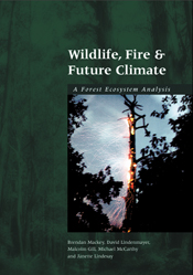 The cover image of Wildlife, Fire and Future Climate, featuring a tall tre
