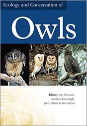 Cover image featuring three images of owls on tree branches, across the mi