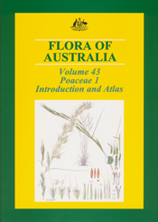 The cover image of Flora of Australia Volume 43, featuring plant sections