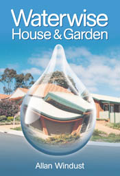 The cover image of Waterwise House and Garden, featuring a suburban home v