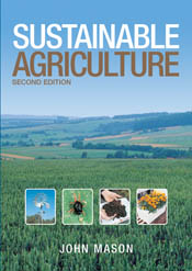 The cover image of Sustainable Agriculture, featuring a panoramic view of