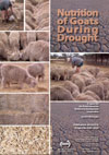 Cover image of Nutrition of Goats During Drought, featuring a montage of o