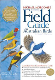 Cover image of Field Guide to Australian Birds, featuring paintings of fiv