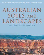 The cover image of Australian Soils and Landscapes, featuring a panoramic