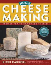 Cover image of Home Cheese Making, featuring a stacked arrangement of chee