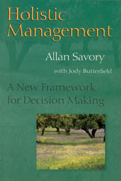 Cover images for Holistic Management, featuring small photograph of meadow