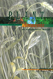 The cover image of Plant Analysis: An Interpretation Manual, featuring a p