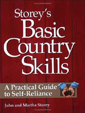 Cover image of Storey's Basic Country Skills, featuring large white text o