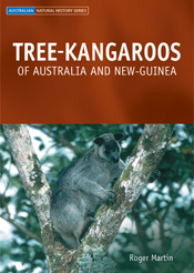 The cover image featuring a tree kangaroo resting in between two boughs, w