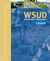 The cover image of WSUD Engineering Procedures: Stormwater, featuring a vi