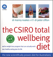 Cover image of The CSIRO Total Wellbeing Diet, featuring large red text on