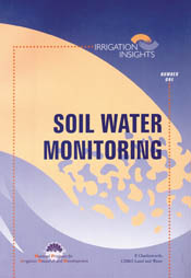 Cover image of Soil Water Monitoring, featuring an abstract blue and orang