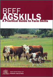 Cover image of Beef Agskills, featuring a group of cows in a paddock.