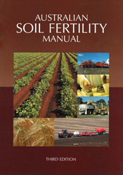 The cover image of Australian Soil Fertility Manual, featuring six images