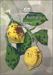 The cover image of Fungi of Australia: Septoria, featuring two yellow lemo
