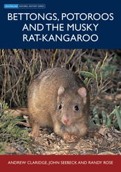 The cover image featuring a musky rat-kangaroo in bracken with shrubs base