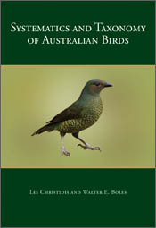 The cover image of Systematics and Taxonomy of Australian Birds, featuring