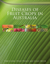 The cover image of Diseases of Fruit Crops in Australia, featuring eight t