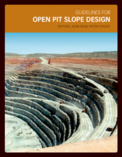 The cover image of Guidelines for Open Pit Slope Design, featuring a parti