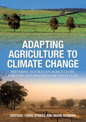 The cover image of Adapting Agriculture to Climate Change, featuring two i