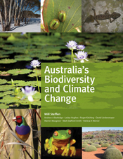 The cover image of Australia's Biodiversity and Climate Change, featuring