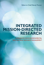 The cover image of Integrated Mission-directed Research, featuring multipl
